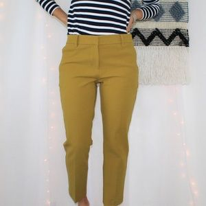 NWOT Ann Taylor Mustard Yellow Trouser Pants 007